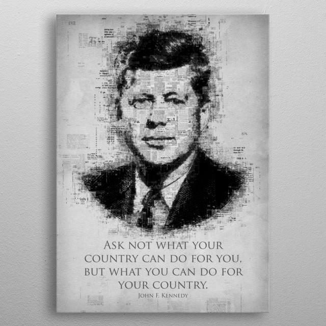 John F. Kennedy metal poster