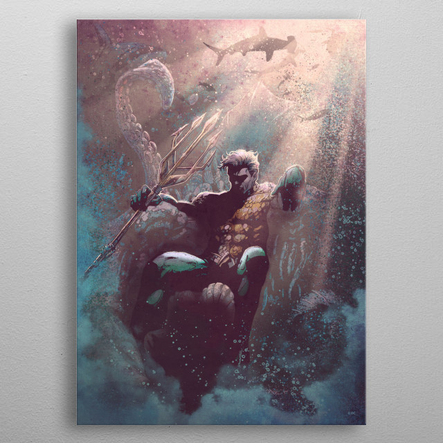 Aquaman  metal poster