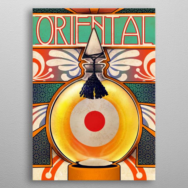 Oriental metal poster