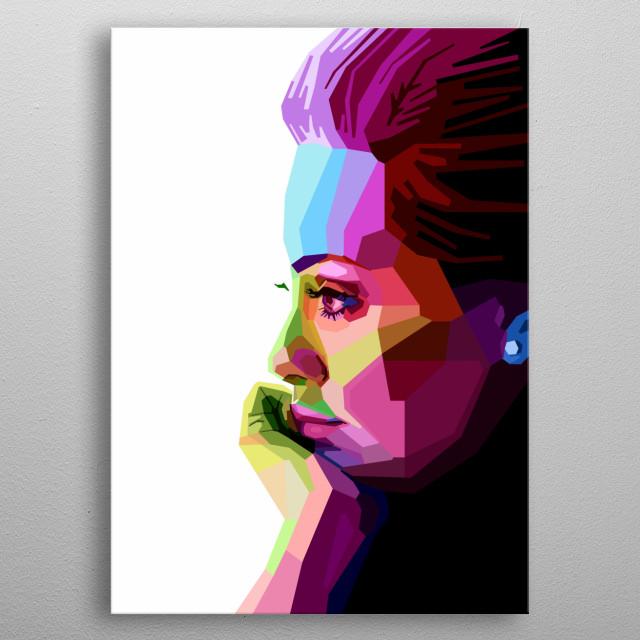 Portrait of Adele. metal poster