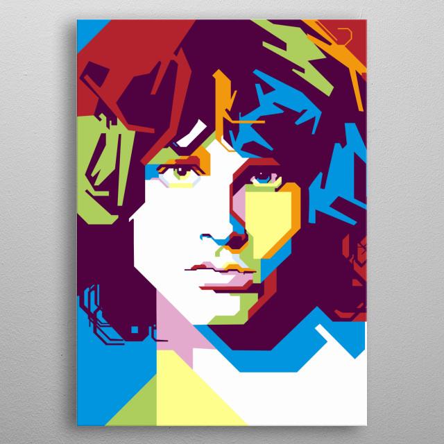 Jim Morrison, New York, 1967 metal poster