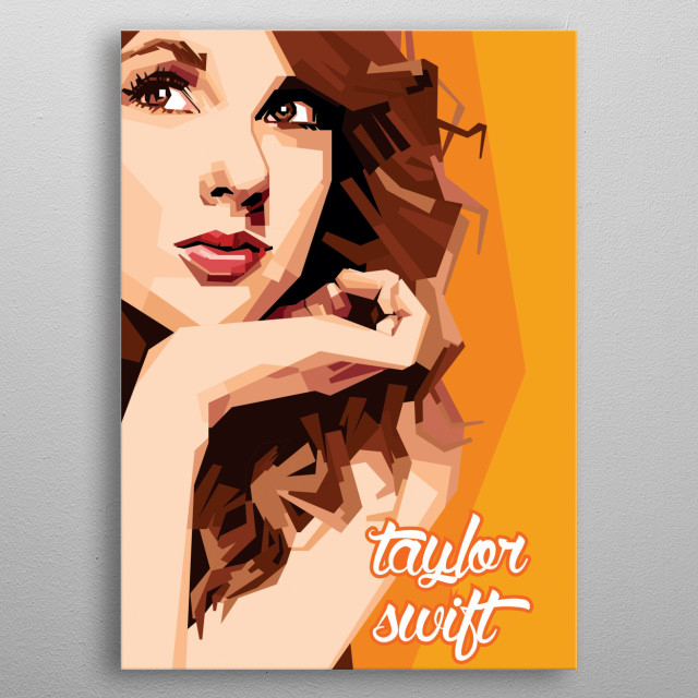 my favorite singer Taylor Swift metal poster
