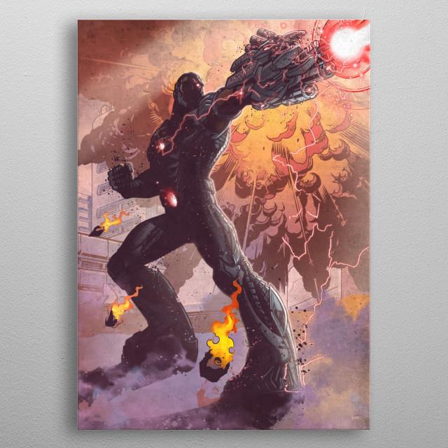 Cyborg  metal poster