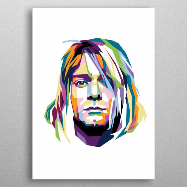 Kurt cobain in Wpap pop art metal poster