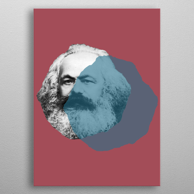 Karl Marx Pop metal poster