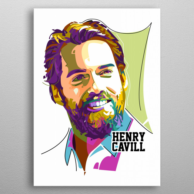 Henry Cavil fans be happy if them see this illustration with vector pop art technic. with this style make your room to be fantastic view metal poster