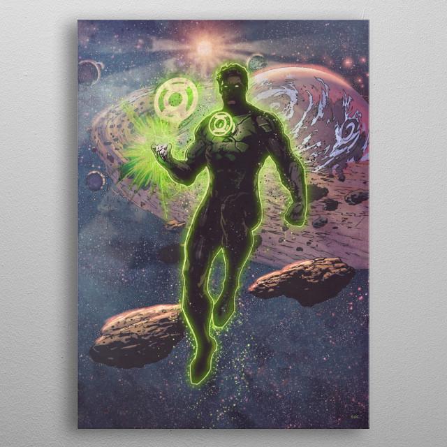 Green Lantern metal poster