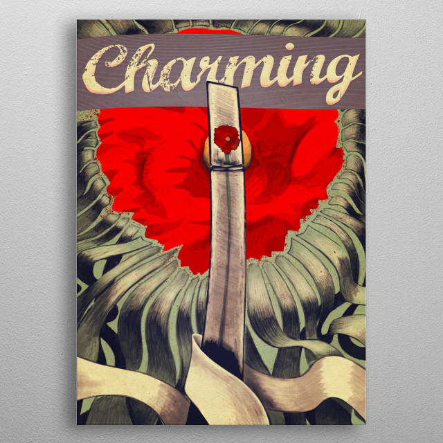 Charming metal poster