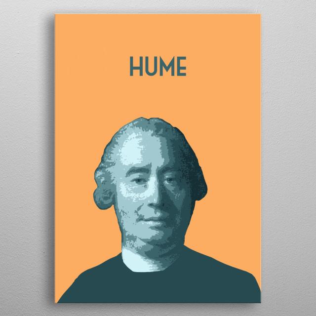 David Hume metal poster