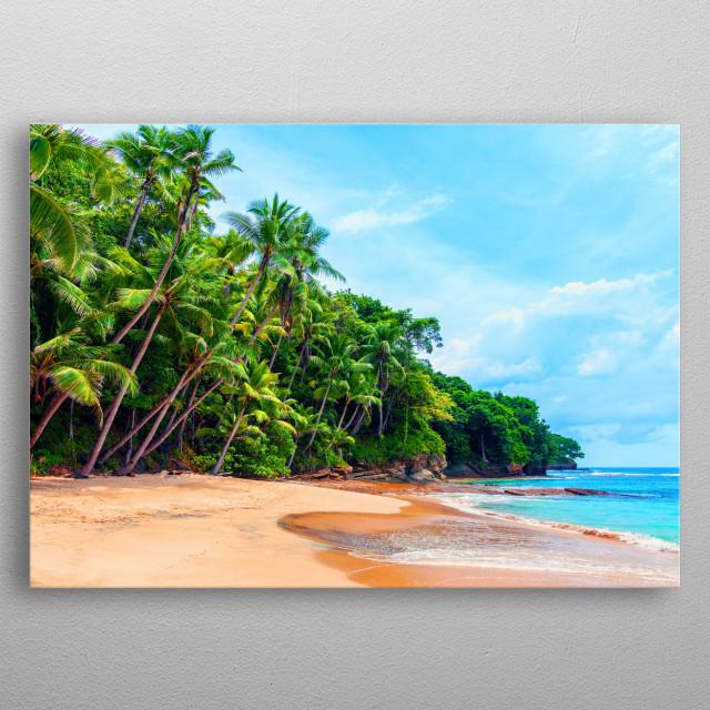 Playa Blanca Panama metal poster