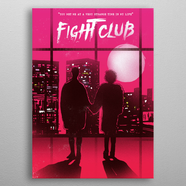 Fight club Tyler and Marla art movie inspired metal poster