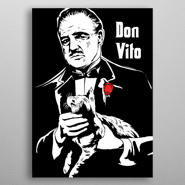 Don Vito the godfather art movie inspired metal poster