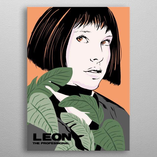 Mathilda Leon the professional art movie inspired metal poster