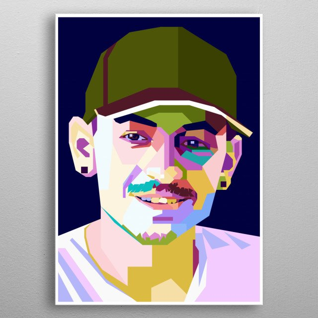 This artwork is inspired by The Legend of Linkin Park Vocalist, Chester Bennington. metal poster