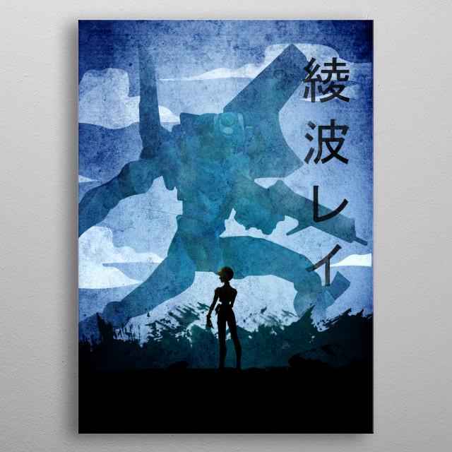 Rei AYANAMI Kanji EVANGELION metal poster