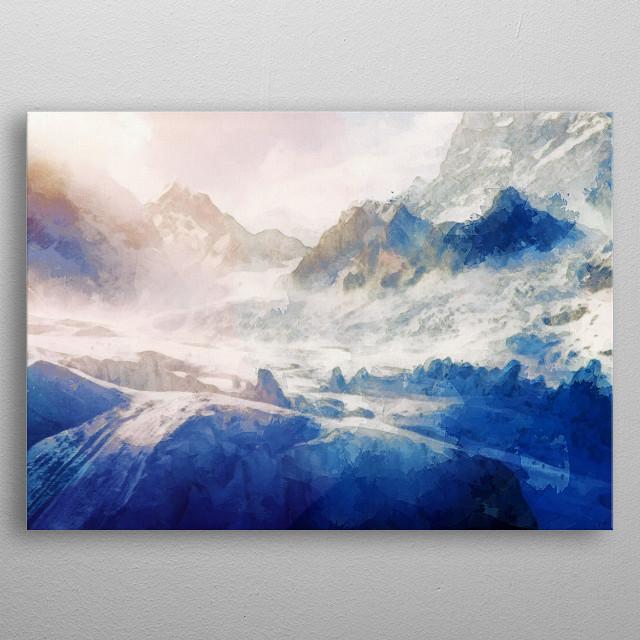 Winter Mountain Dream metal poster
