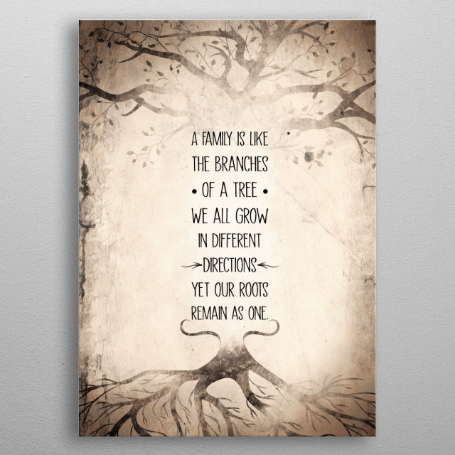 Family tree quote metal poster