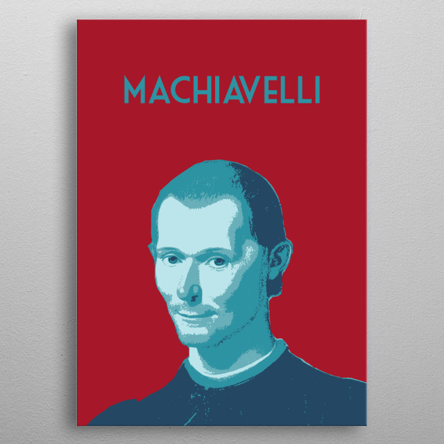 Niccolo Machiavelli metal poster