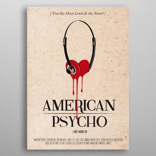 American Psycho art movie print metal poster
