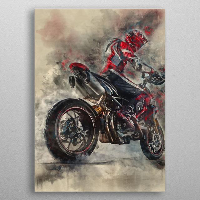 2019 Ducati Hypermotard 950 SP metal poster
