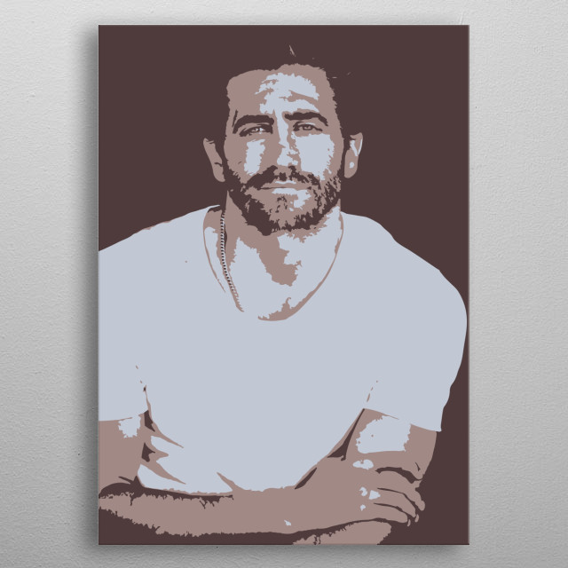 Speed art of Jake Gyllenhaal. metal poster