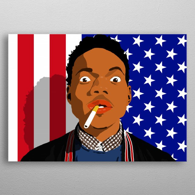 Vector art of Rapper Chance The Rapper metal poster