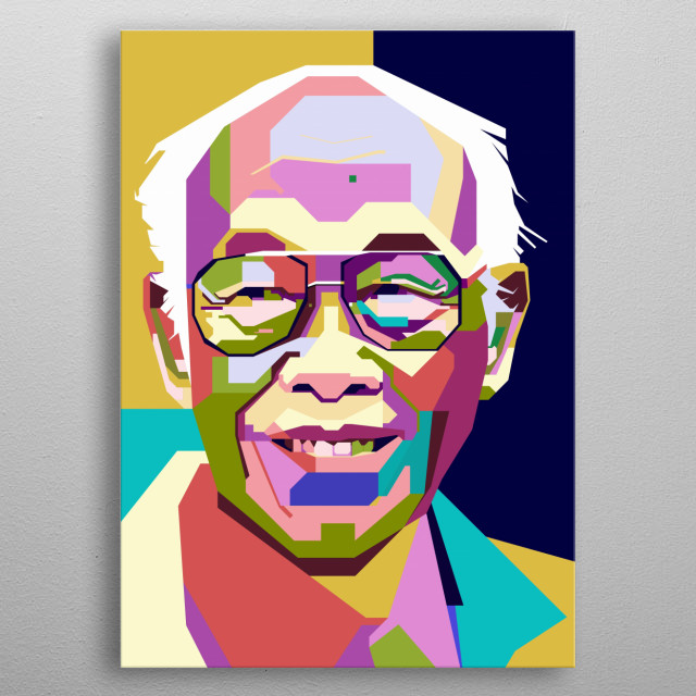 This illustratioion is inpired by the most influential Indonesian writer, Pramoedya Ananta Toer. metal poster