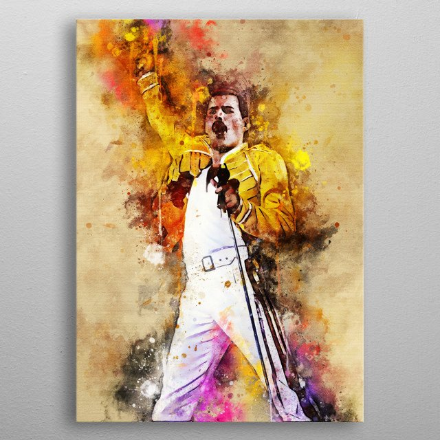 Freddie Mercury is an English vocalist, he is best known for being a rock vocalist, Queen metal poster