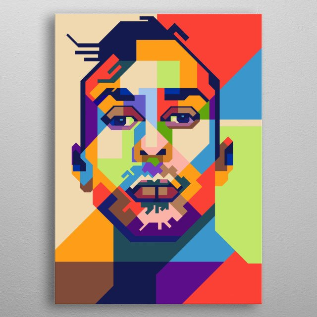 Travis Barker in Pop Art Style metal poster