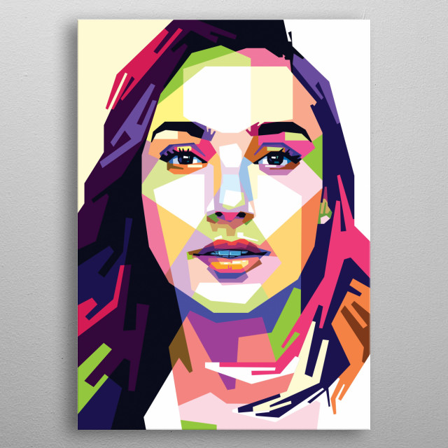 Portrait of Gal Gadot metal poster