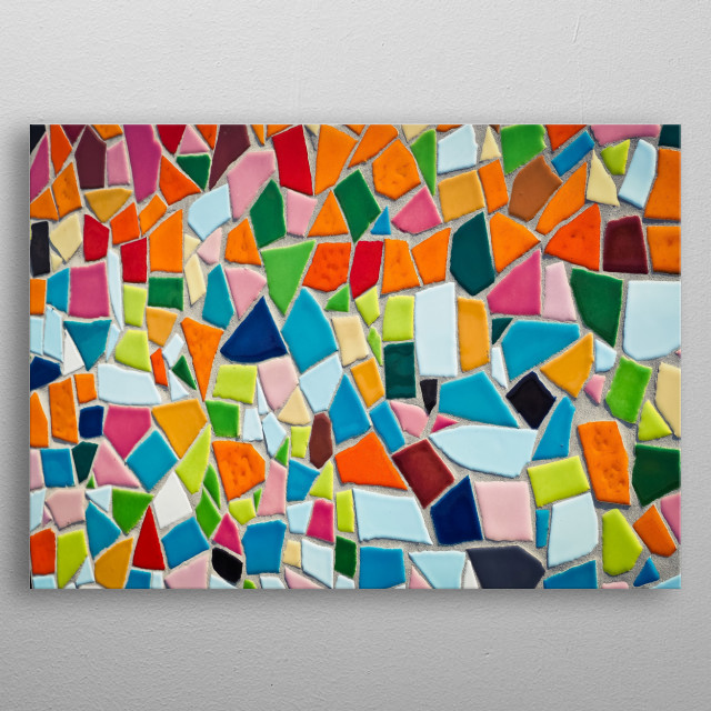 Awesome and artistic piece for mosaic tile lovers! metal poster