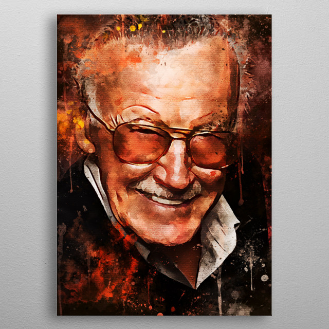 Stan Lee is an American writer, editor, publisher, producer and actor. Stan Lee started making comics for the first time in 1941 metal poster