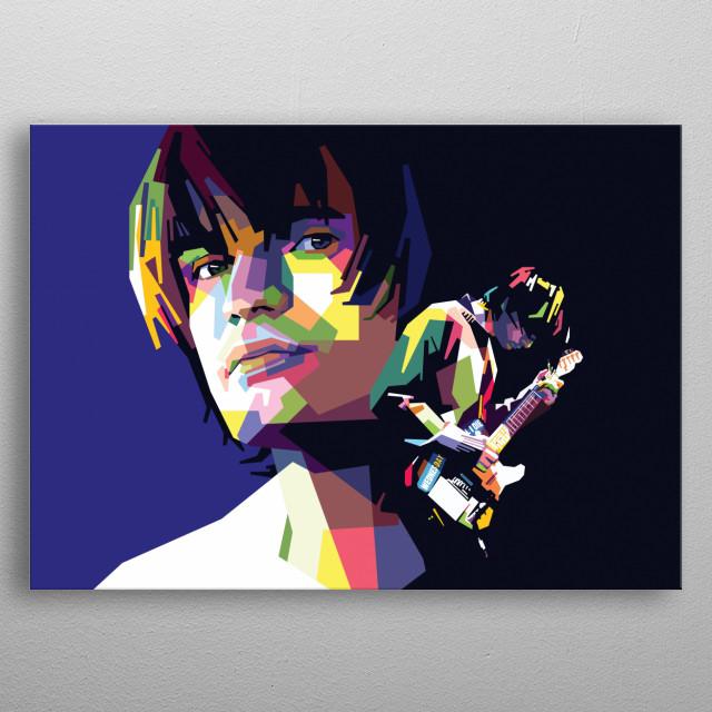 "Popart of Jonny Greenwood ""Radiohead"". metal poster"
