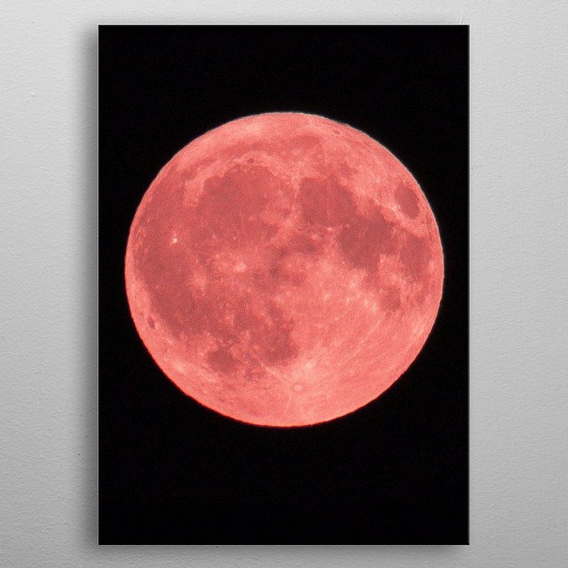 Blood moon photo. Original image credit: S. Moore metal poster