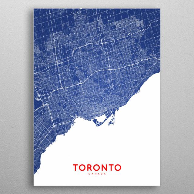 Toronto map metal poster