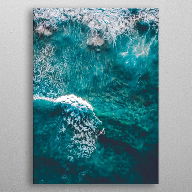 Waves metal poster