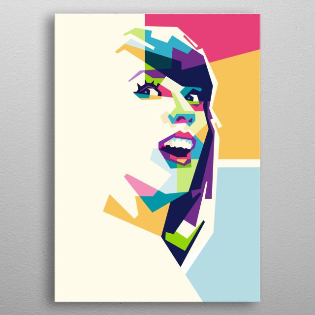 Taylor Swift in Pop Art metal poster