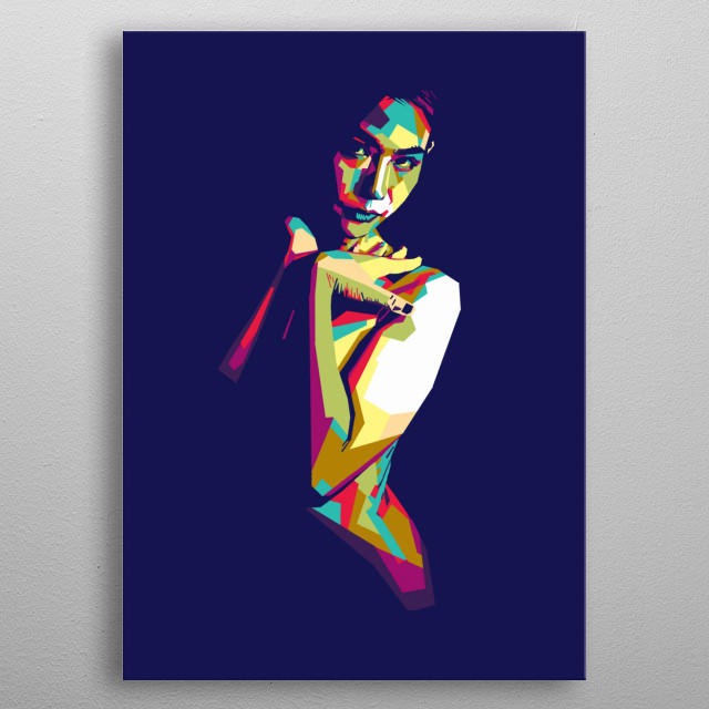 Sexy girl in style wpap pop art  metal poster