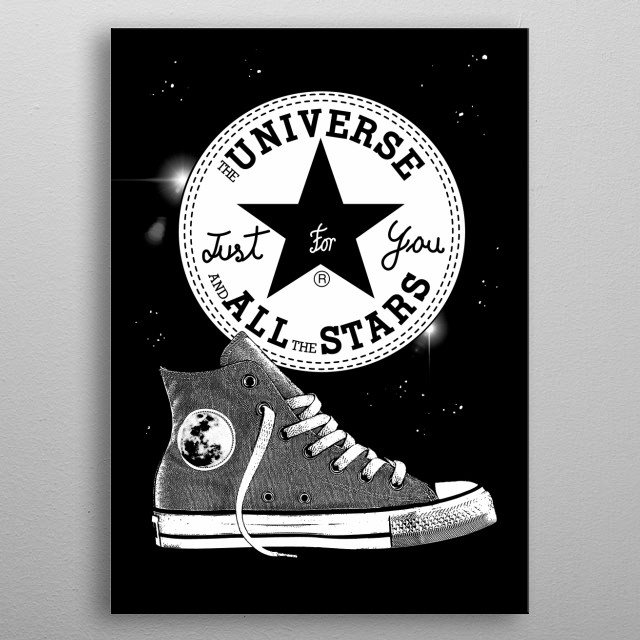 Univeverse and all the stars for You - Hi Boot on Space metal poster