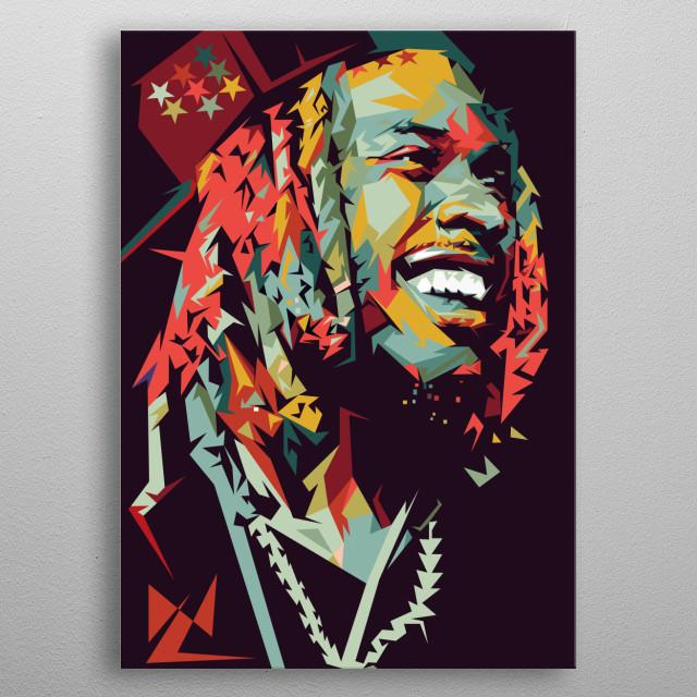 Fetty Wap Rapper Illustration Portrait Pop Art metal poster