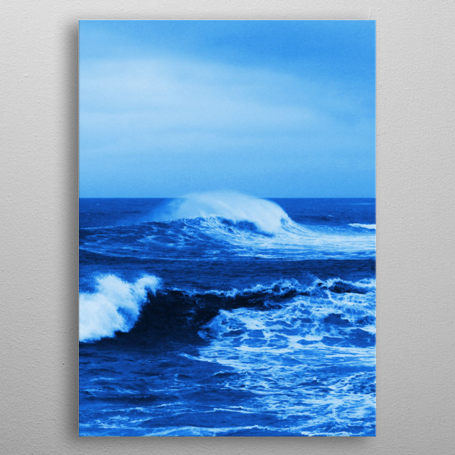 Photo of waves breaking in the ocean off of South Africa. Original image: I. Combrinck metal poster