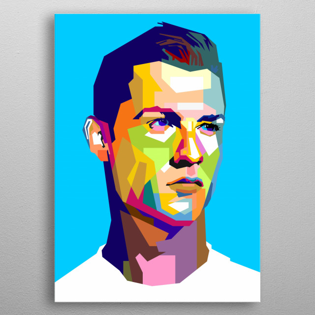 The famous stricker from Portugal. Cristiano Ronaldo metal poster