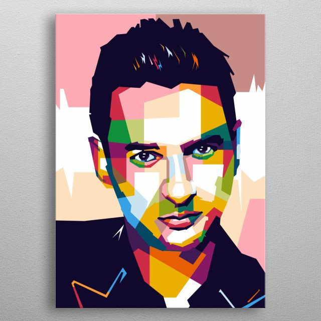 Awesome WPAP Pop Art Design Ilustration  metal poster