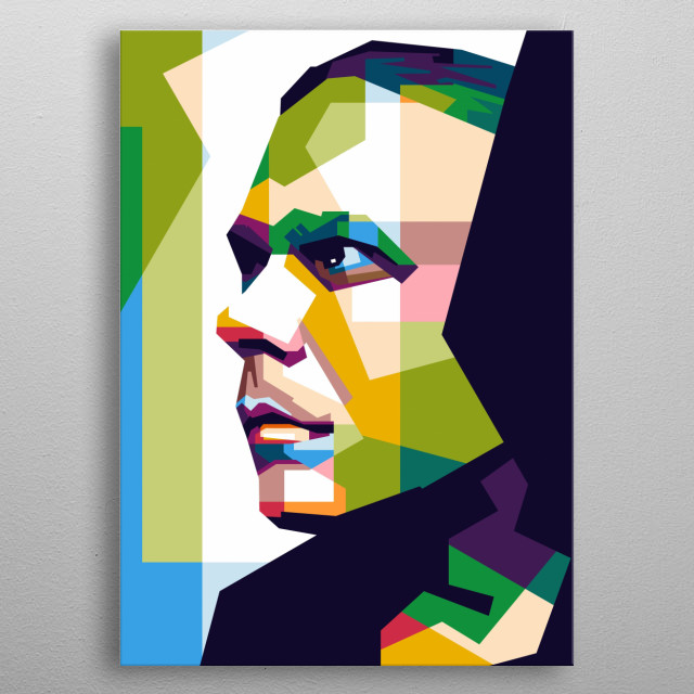 Awesome People in WPAP metal poster