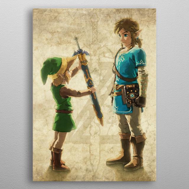 Passing The Sword metal poster