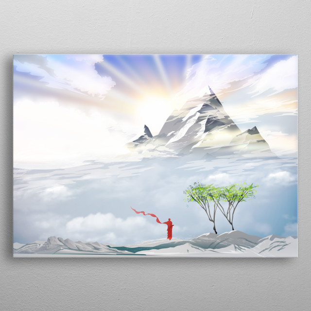 inspired by Tibet and buddhism  metal poster