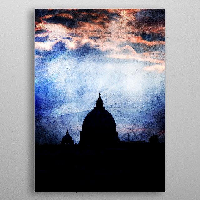 Photography of Saint Peter´s Basilic in City of Vatican.  metal poster