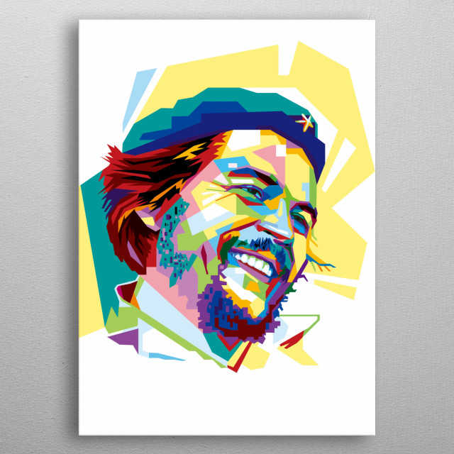 Che Guevara, was an Argentine Marxist revolutionary, physician, author, guerrilla leader, diplomat and Cuban Revolution. metal poster