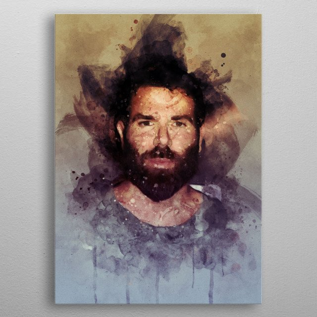 Dan Bilzerian watercolor metal poster
