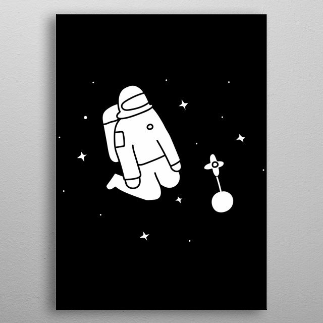 Lonely Astronaut metal poster